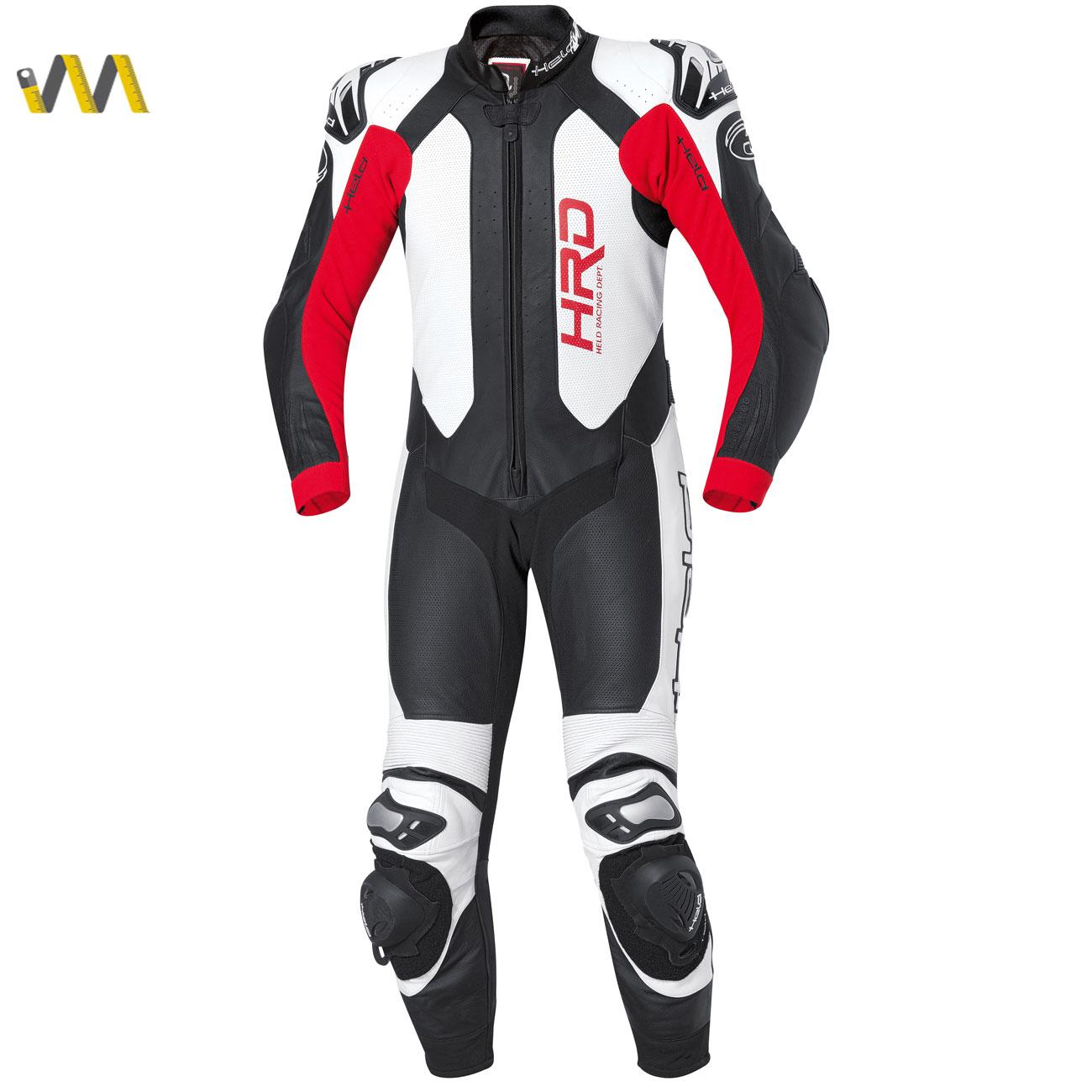 Held Slade 1-piece race-spec suit Zwart/Rood
