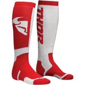 Thor MX Socks Red/White