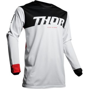Thor Pulse Air Factor White/Red Jersey