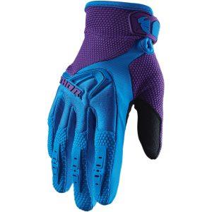 Thor Women's Spectrum Blue/Purple Gloves