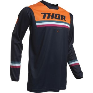Thor Youth Pulse Air Pinner Midnight/Orange Jersey