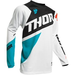 Thor Youth Sector Blade White/Aqua Jersey